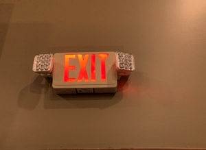 Exit/Emergency Light To Be Tested