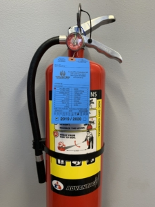 fire extinguisher with annual certification tag