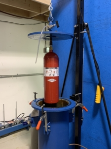 Hydrostatic Test Of A CO2 Cylinder